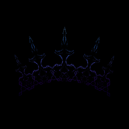 Elegant royal crown. Exquisite ice color headwear suitable for snow queen. Vector Illustration
