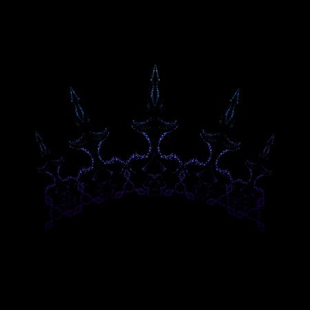 Elegant royal crown. Exquisite ice color headwear suitable for snow queen. Vector Illustration