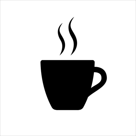 Espresso icon. Strong coffee in espresso cup and smoke. Vector Illustration 일러스트