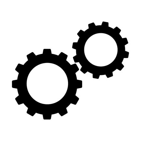 Cogwheels or gears icon Vector Illustration