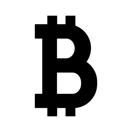 Bitcoin icon. Sign of bitcoin digital crypto currency. Vector Illustration