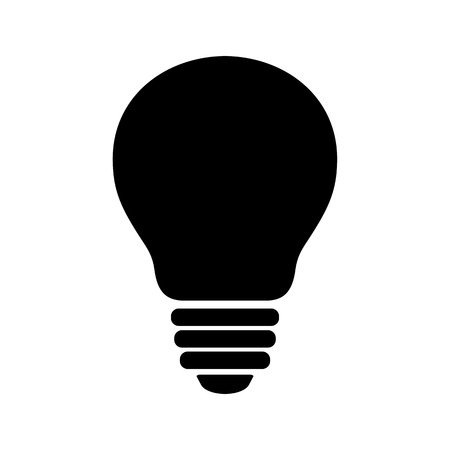 Bulb icon. Simple light bulb image. Vector Illustration