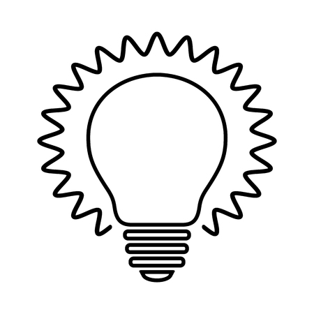 Bulb line icon. Shining light bulb with rays. Suitable for idea, invention or discovery concept sign. Vector Illustration