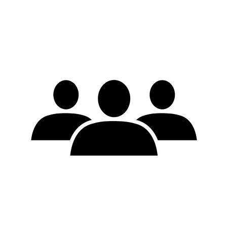 Group icon. Simple representation of group or crowd of people. Vector Illustration