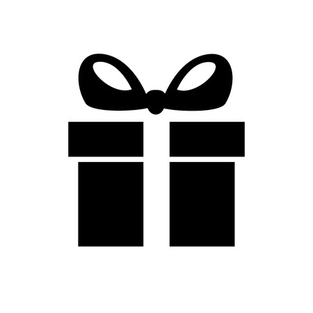 Gift box line icon. Holiday box with ribbon containing presents and gifts. Vector Illustration  イラスト・ベクター素材