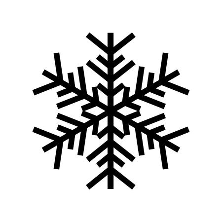 Icône de flocon de neige. Beau flocon de neige à six branches de forme artistique. Illustration vectorielle