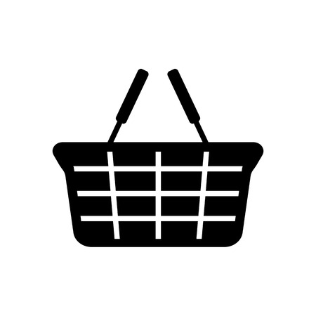 Grocery basket icon. Empty shopping basket for food and small merchandise. Vector Illustration