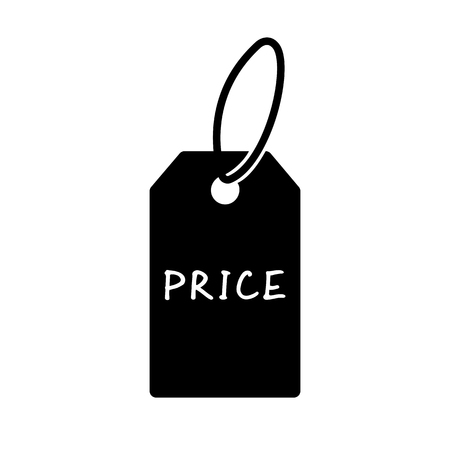 Price tag icon. Simple label with item price. Vector Illustration Ilustração