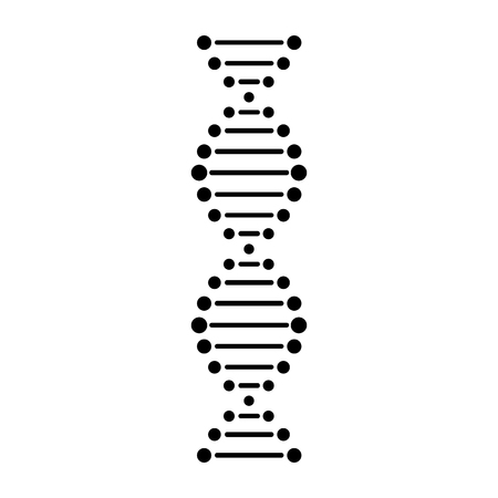 DNA line icon. Double helix of DNA molecule of living organisms. Vector Illustration Çizim