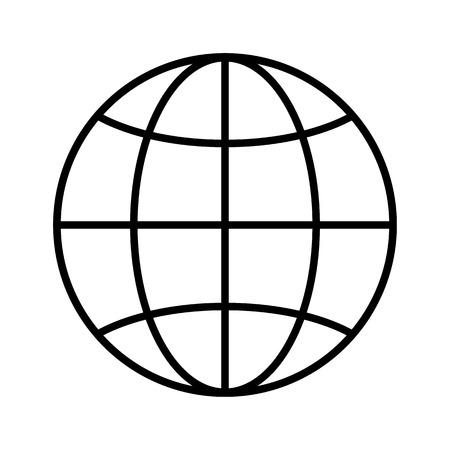 Globe line icon. World or planet earth symbol. Vector Illustration