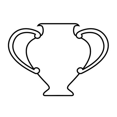 Icône de ligne d'amphore. Vase antique, fiole ou cruche d'argile. Illustration vectorielle