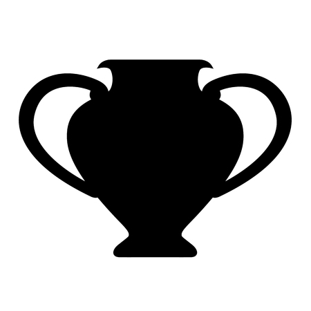 Amphora icon. Ancient vase, vial or clay jug. Vector Illustration