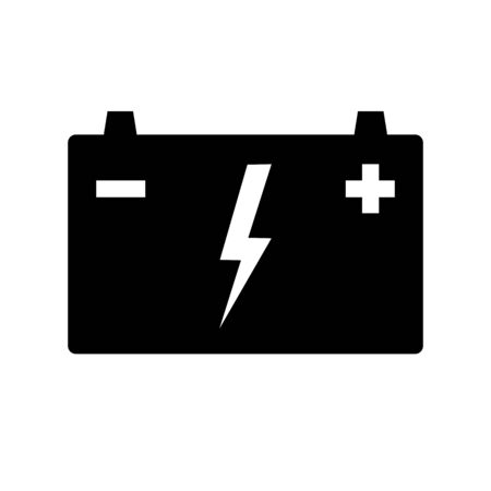 Automotive battery icon. Battery for cars, trucks and other motor vehicles. Vector Illustration