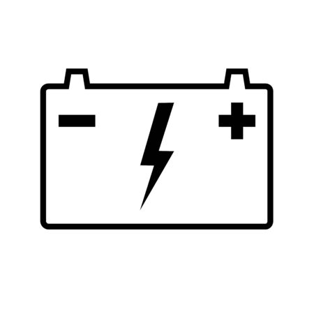 Automotive battery line icon. Battery for cars, trucks and other motor vehicles. Vector Illustration