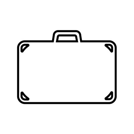 Suitcase line icon. Travel bag, baggage or luggage. Vector Illustration
