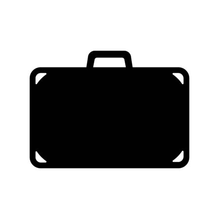 Suitcase icon. Travel bag, baggage or luggage. Vector Illustration