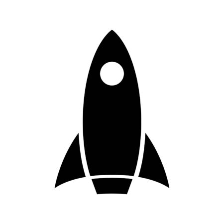Rocket icon. Spaceship or any vessel designed for spaceflight. Vector Illustration
