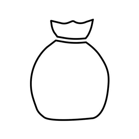 Sack line icon. Simple sack or canvas bag sign. Vector Illustration