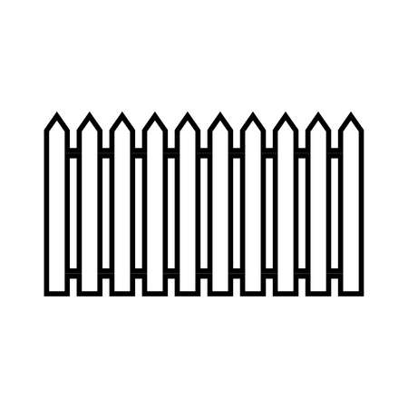 Fence line icon. Simple traditional fence. Vector Illustration