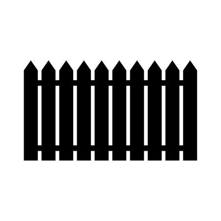 Fence icon. Simple traditional fence. Vector Illustration