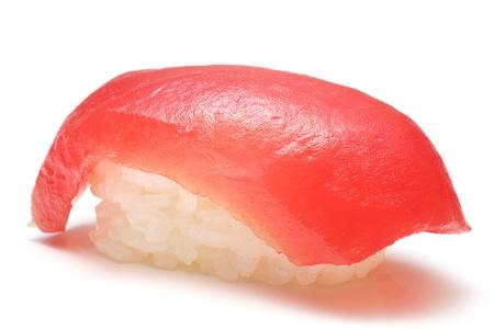 closeup of a tuna sushi