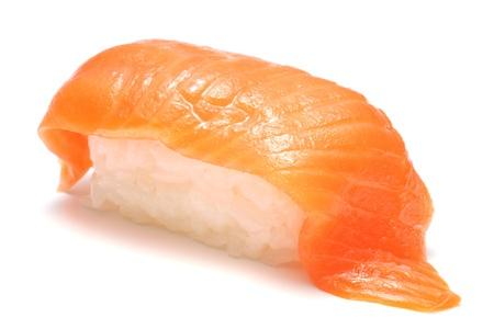 closeup of a salmon sushi  版權商用圖片