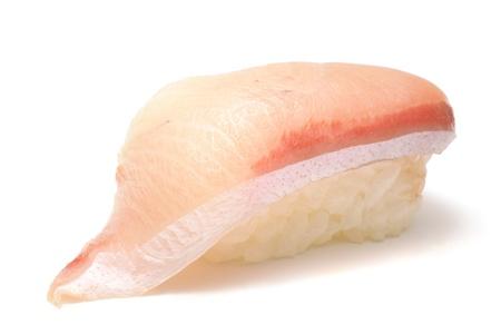 closeup of a young yellowtail sushi