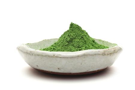 green powder: Powdered green tea