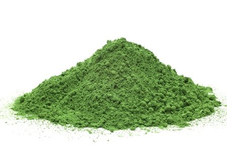 dry powder: Powdered green tea