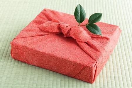 Furosiki, japanese silk wrapping cloth Stock Photo