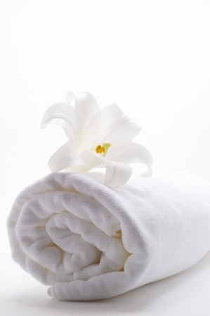 spa towels: Lily and towels