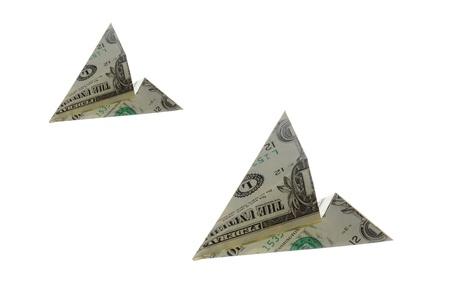 Flying US dollar bills photo