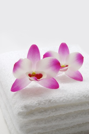 destress: Orchids and towels