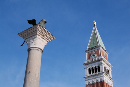 campanile: St Mark s Campanile and winged lion