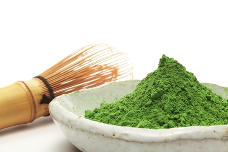 matcha: Powdered green tea