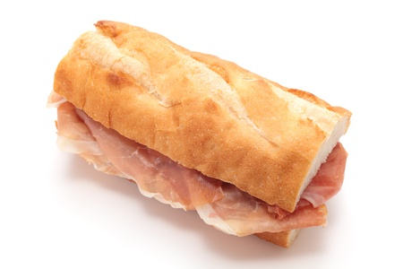 ham sandwich: Sandwich with uncured ham