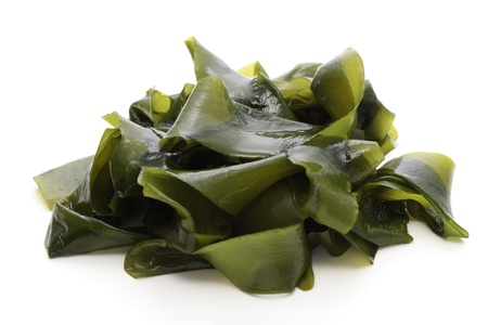 iodine: Wakame, soft seaweed Stock Photo
