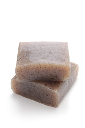 Japanese ingredient, konjac made from the starch of devil s tongue  Stock Photo