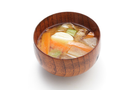 burdock: Tonjiru, miso soup with pork and vegetables
