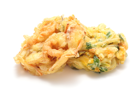 Kakiage, shrimp and vegetable fritters Stock Photo