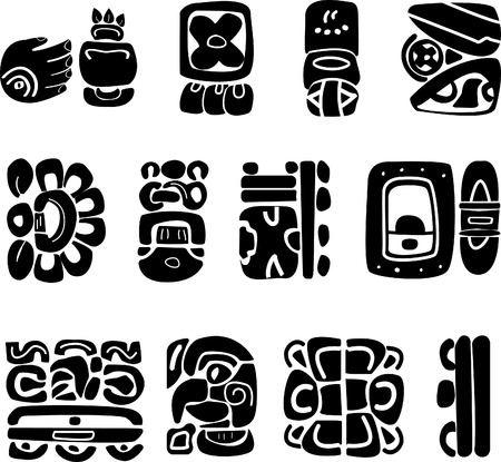 Symbols Of The Maya Ethnic Logos Of Southern America Indian