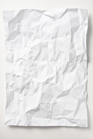 Crumpled paper for wait
