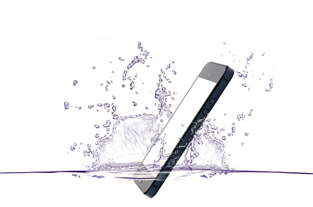 telefonos movil: gota de agua m�vil Foto de archivo