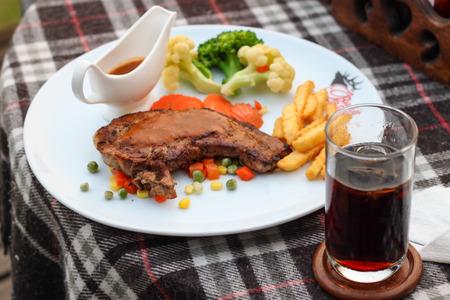 Gourmet grilled steak Stock Photo