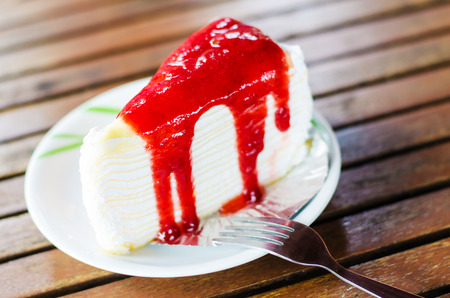 Red Currant Layer Cake Stock Photo