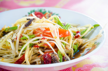 Green Papaya Salad ,Somtum Thai Food photo