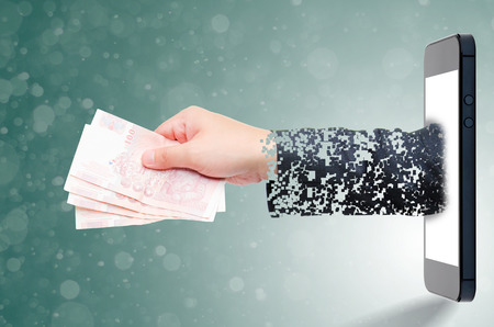 invade: hand take a money online