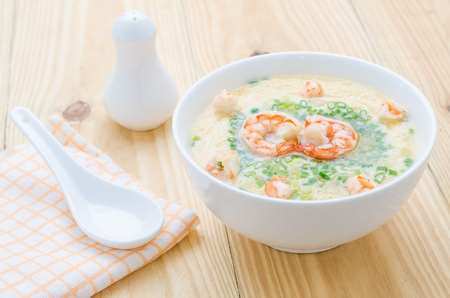 Poached eggs food thailand in a bowl Stock Photo