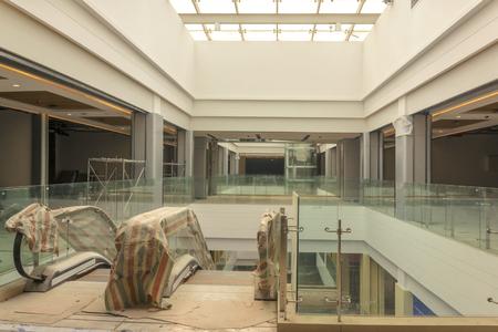Shopping escalator in construction