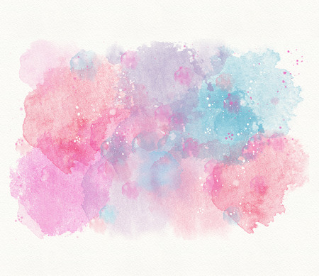 Abstract blue pink watercolor background, divorce, spot Imagens